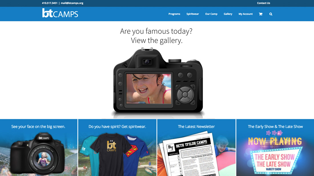 BT Camps website design | Web Design Maryland