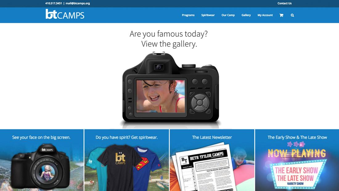 BT Camps website design | Web Design Maryland
