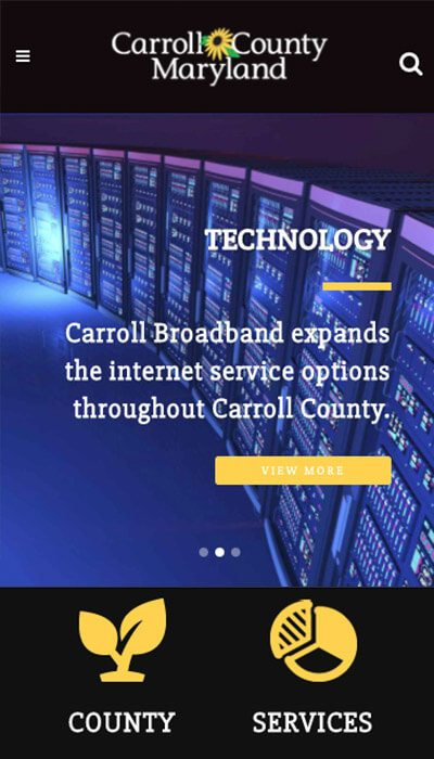 Carroll County MD mobile website design | Web Design Westminster, MD
