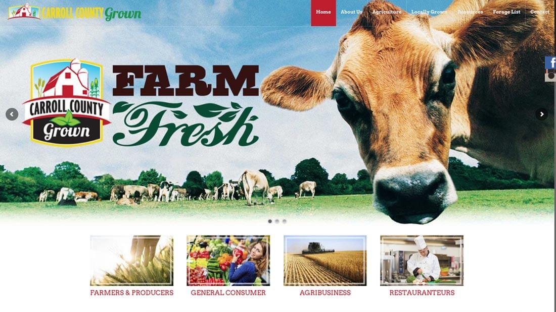 Carroll Grown website design | Web Design Westminster, MD