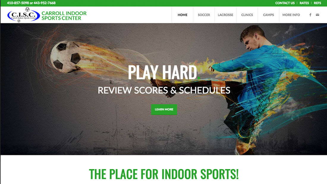 Carroll Indoor website design | Web Design Maryland