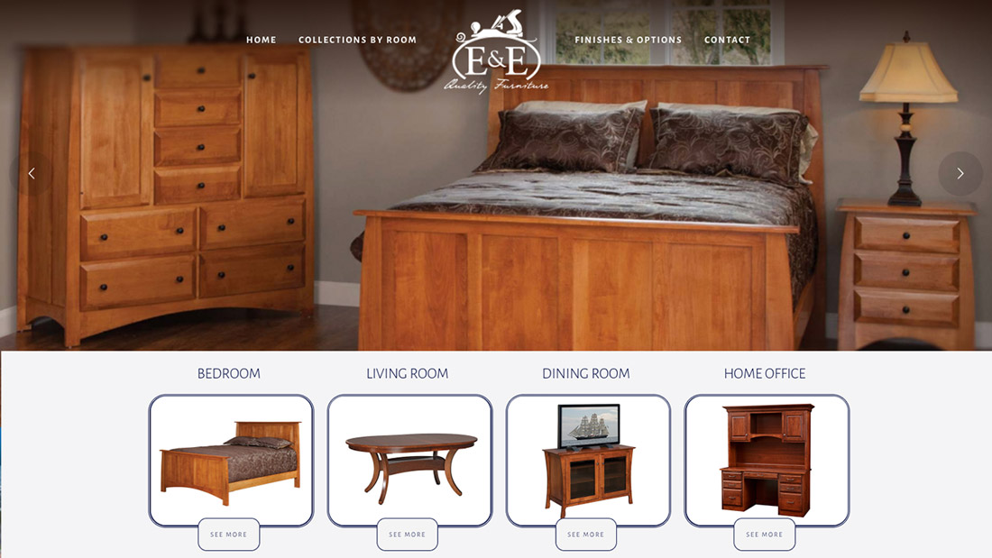 E&E Quality Furniture website design | Web Design Westminster, Maryland