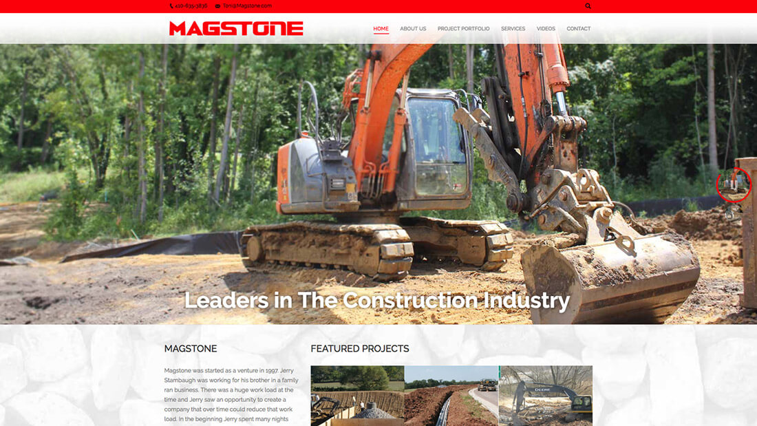Magstone website design | Web Design Maryland