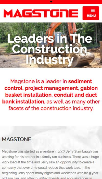 Magstone mobile website design | Web Design Maryland