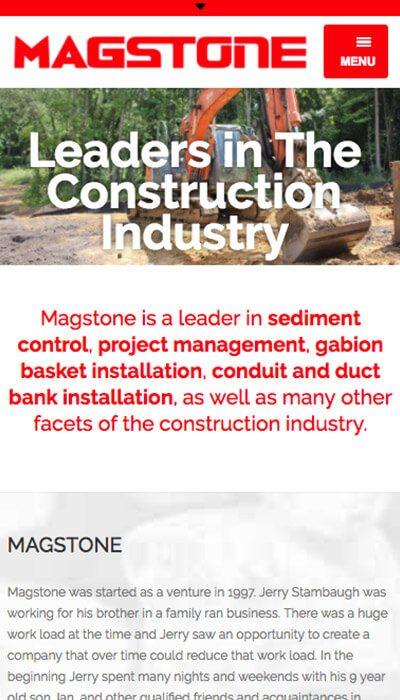 Magstone mobile website design | Web Design Maryland