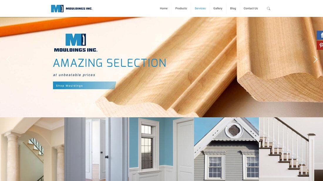 Mouldings Inc website design | Web Design Maryland