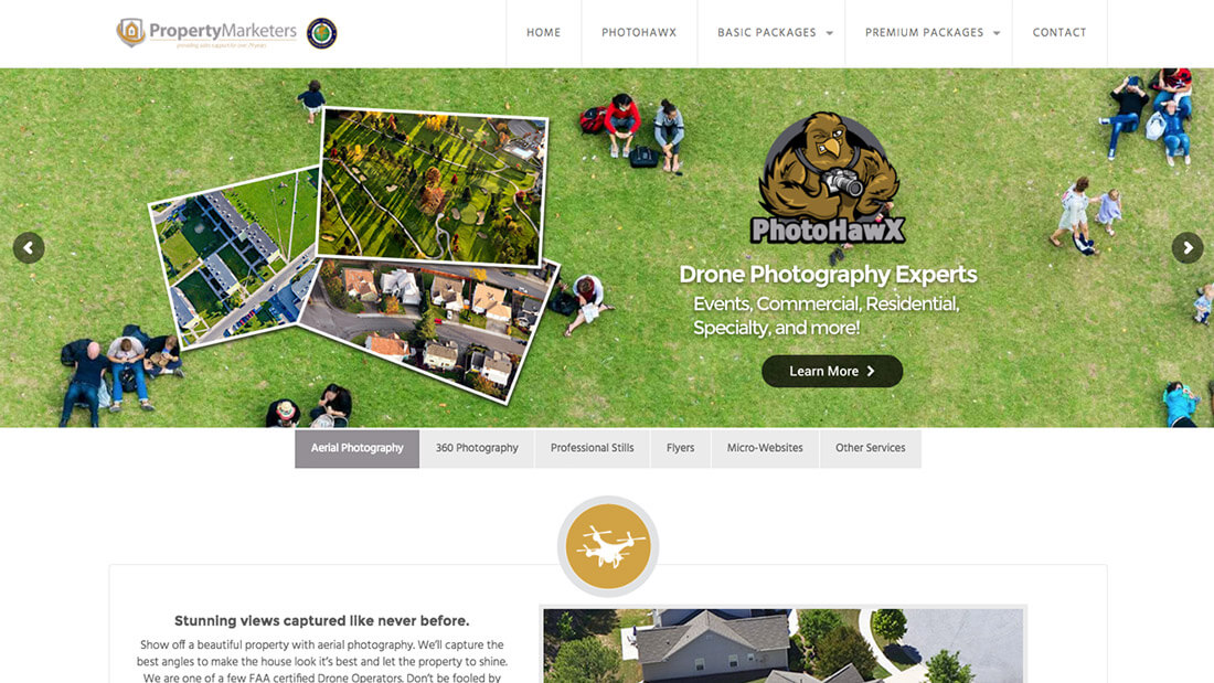 Property Marketers website design | Web Design Maryland