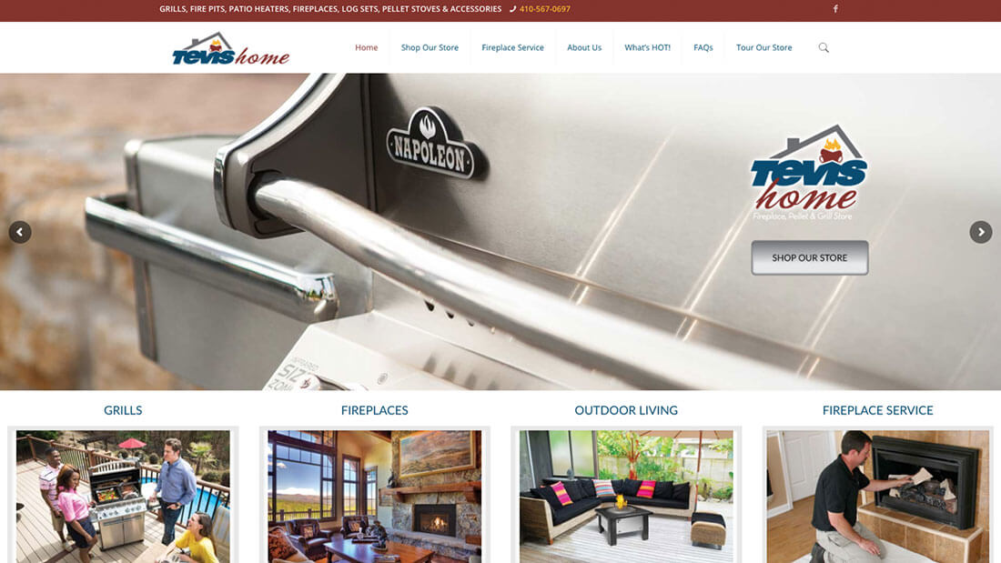 Tevis Oil Home Page - Maryland Web Design - Baltimore Web Design - Kohn Creative