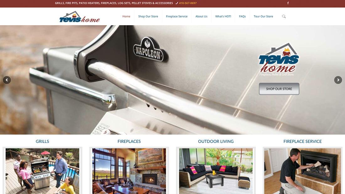 Tevis Home website design | Web Design Maryland