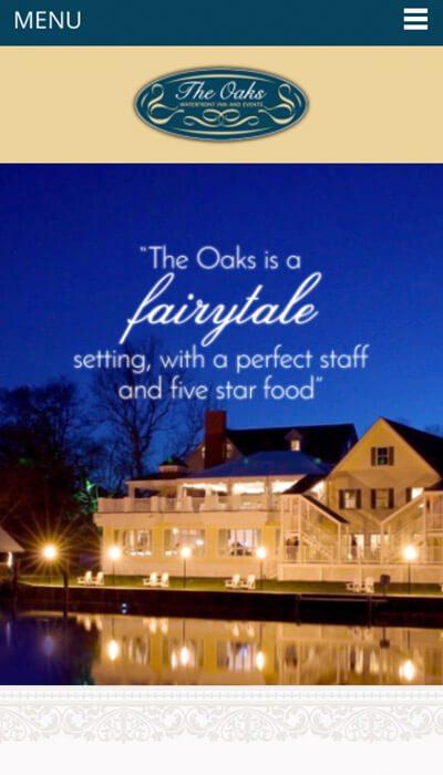 The Oaks mobile website design | Web Design Maryland