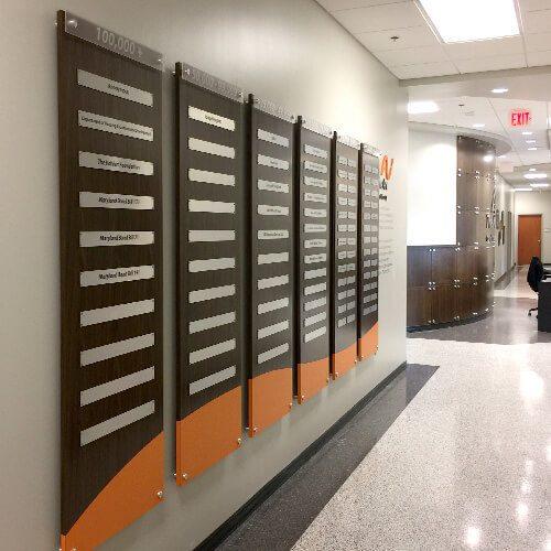wall display at the arc