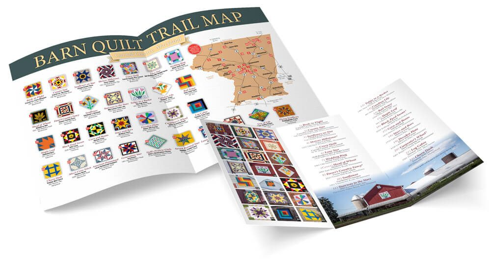 barn quilt trail map and brochure