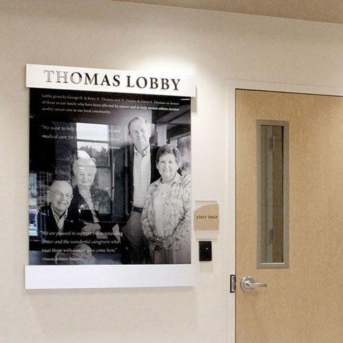 carroll hospital thomas lobby display on wall