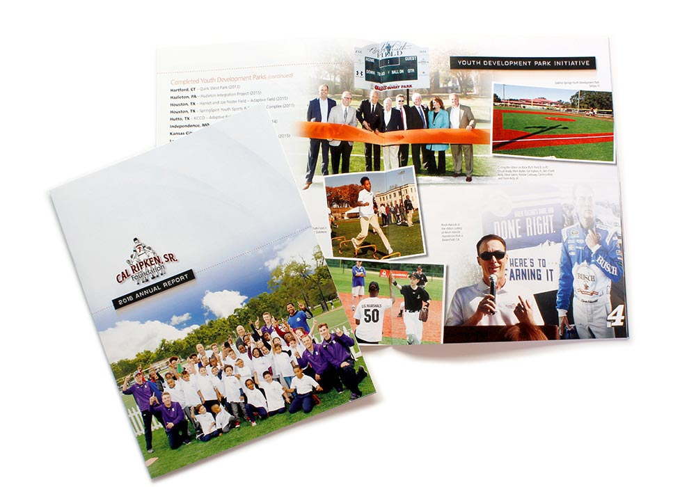 Annual Report Design for Publication | Cal Ripken Foundation