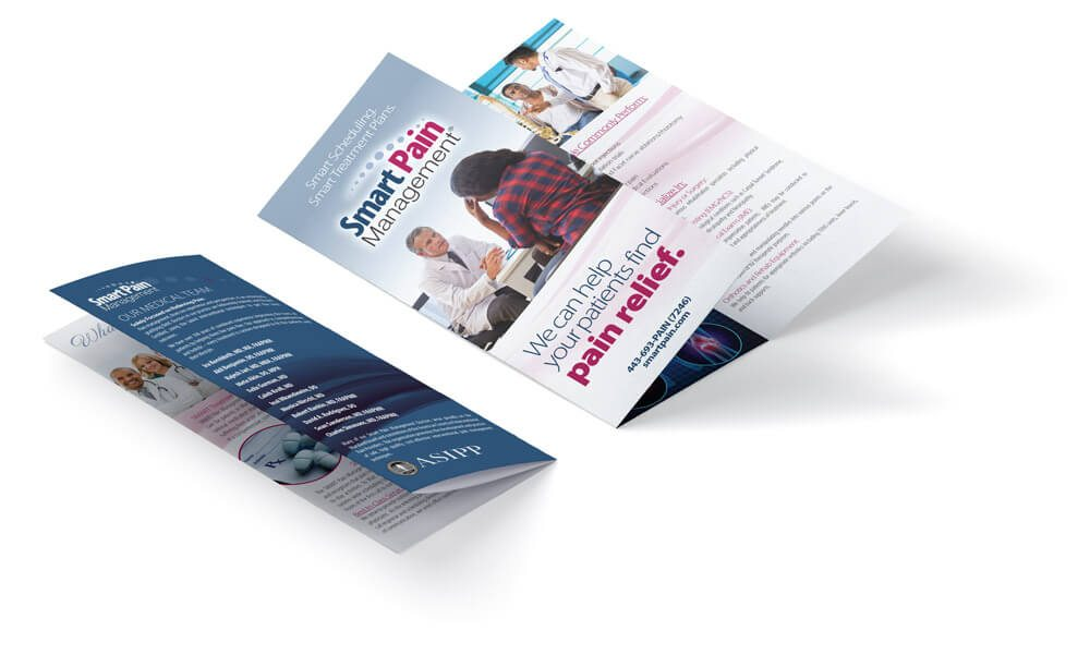 Smart Pain Management brochure | Baltimore Graphic Design